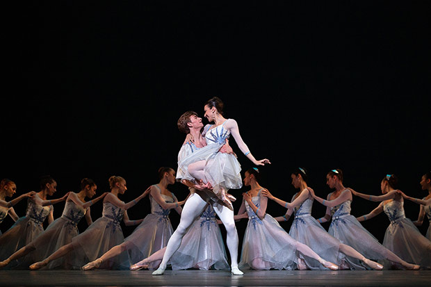Luciana Paris and Aran Bell in <I>The Seasons</I>.<br />© Marty Sohl. (Click image for larger version)