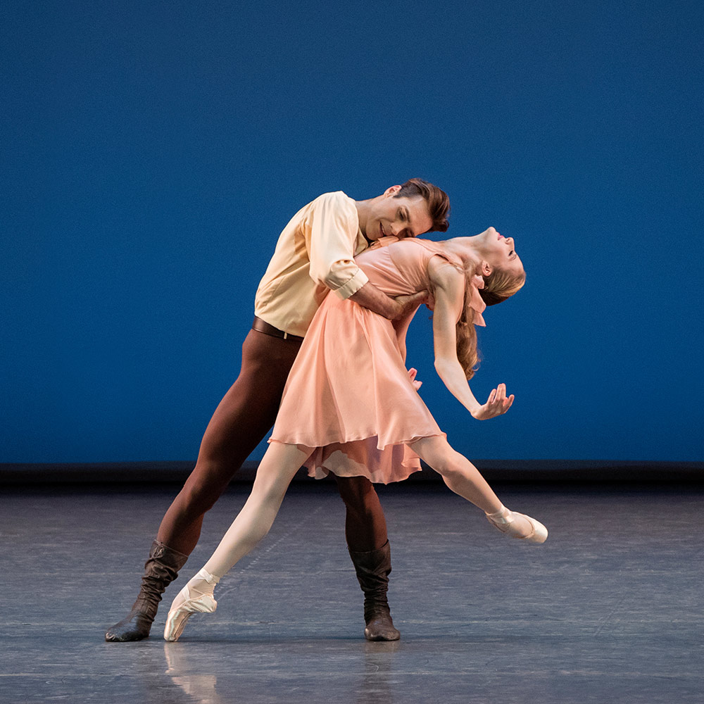 Gonzalo Garcia and Sterling Hyltin in Jerome Robbins' Dances at a Gathering.© Paul Kolnik. (Click image for larger version)