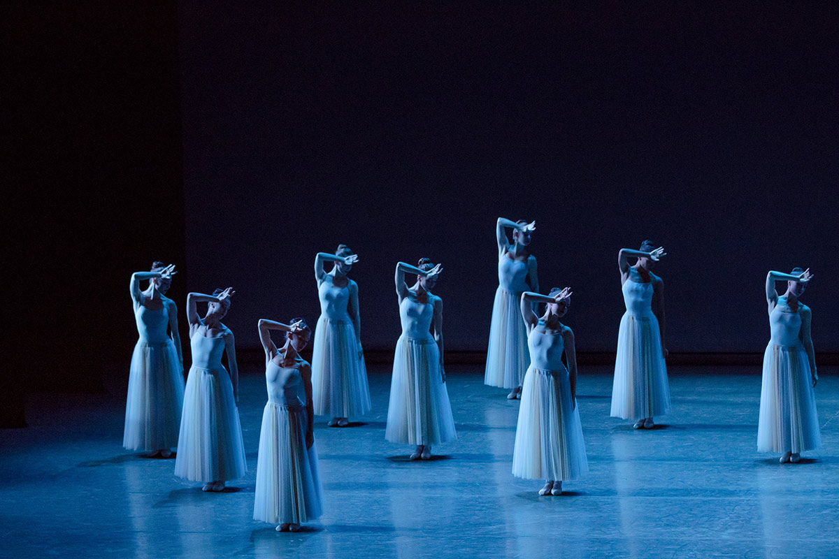 New York City Ballet in Balanchine's <I>Serenade</I>.<br />© Paul Kolnik. (Click image for larger version)
