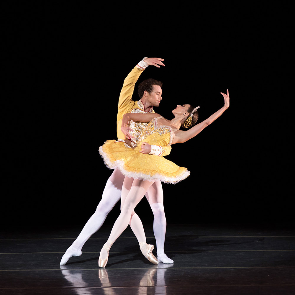 Devon Teuscher and Cory Stearns in <I>Theme and Variations</I>. © The George Balanchine Trust.<br />© Rosalie O'Connor. (Click image for larger version)