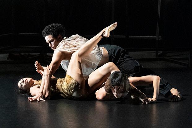 Estela Merlos, Dane Hurst and Sunbee Han in <I>Staging Schiele</I>.<br />© Foteini Christofilopoulou. (Click image for larger version)