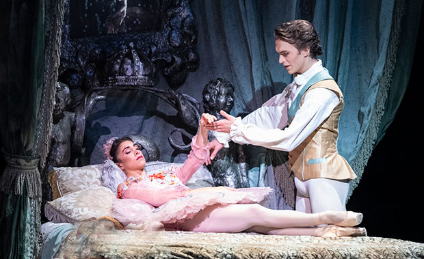 Yasmine Naghdi and Matthew Ball in <I>The Sleeping Beauty</I>.<br />© Foteini Christofilopoulou, courtesy the Royal Opera House. (Click image for larger version)