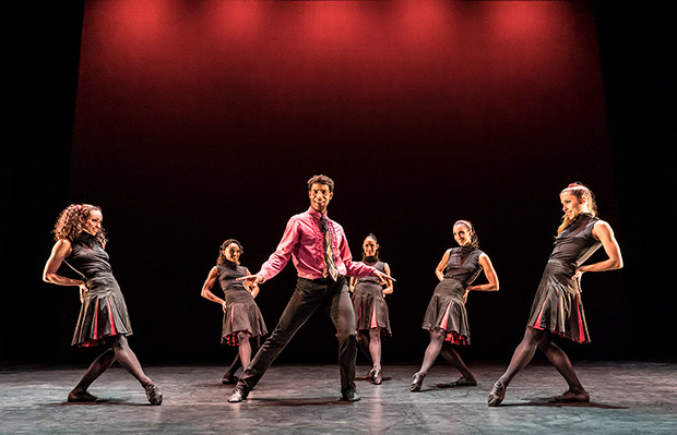 Carlos Acosta and Acosta Danza in <I>Rooster</I>.<br />© Johan Persson. (Click image for larger version)