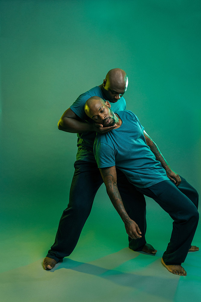 Joseph Toonga and Theophillus Oloyade in <I>Born To Manifest</I>.<br />© The Other Richard. (Click image for larger version)