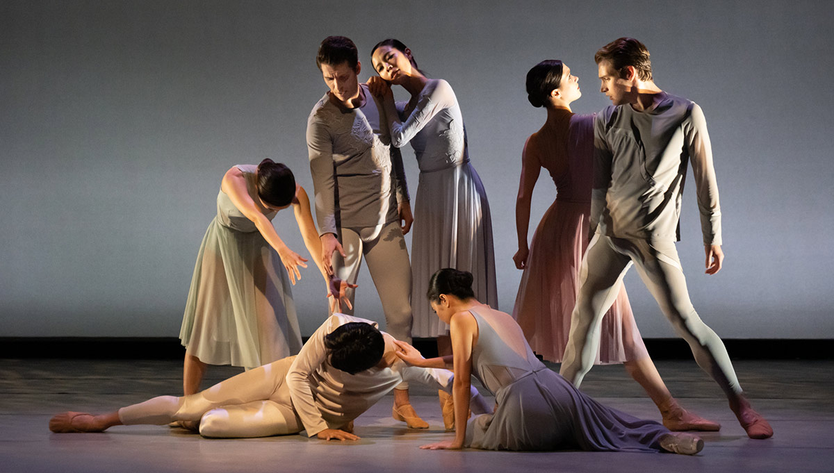 Washington Ballet in Jessica Lang's <I>Reverence</I>.<br />© Victoria Pickering, courtesy The Washington Ballet. (Click image for larger version)