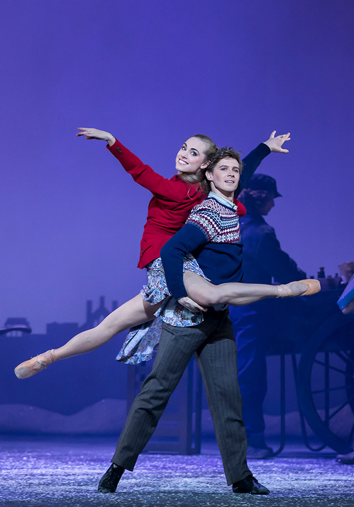 Bethany Kingsley-Garner and Andrew Peasgood in The Snow Queen.© Andy Ross. (Click image for larger version)