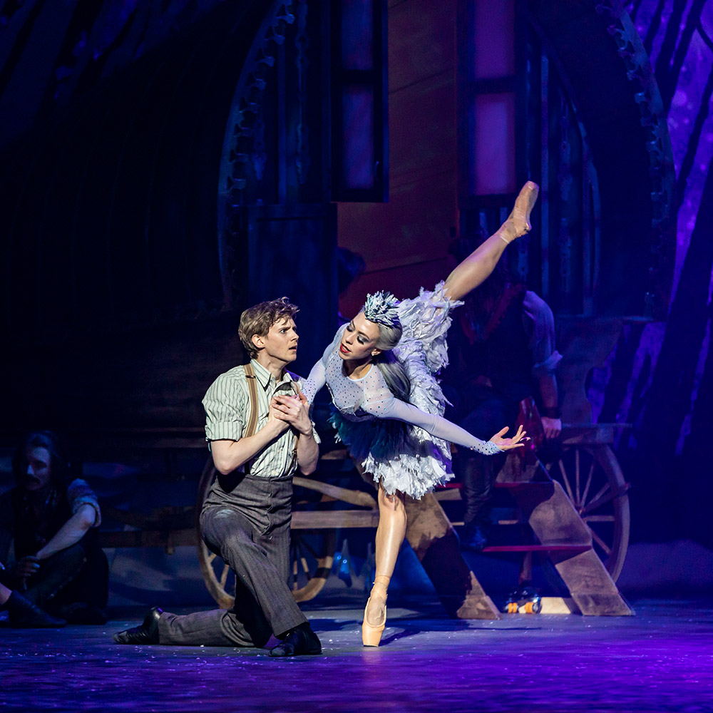 Constance Devernay and Andrew Peasgood in The Snow Queen.© Andy Ross. (Click image for larger version)
