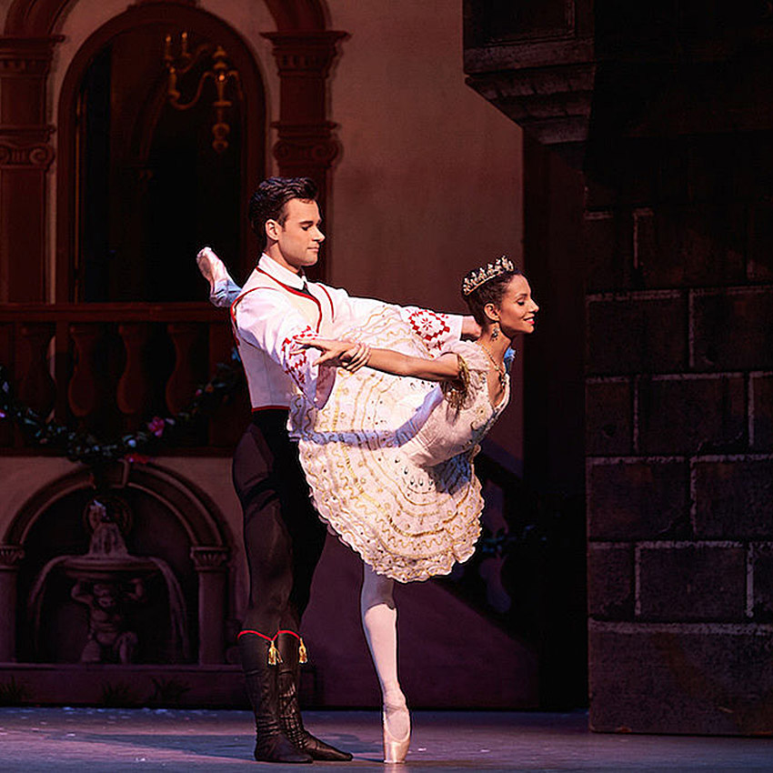 Francesca Hayward and Alexander Campbell in Coppélia.© Bill Cooper, courtesy the Royal Opera House. (Click image for larger version)
