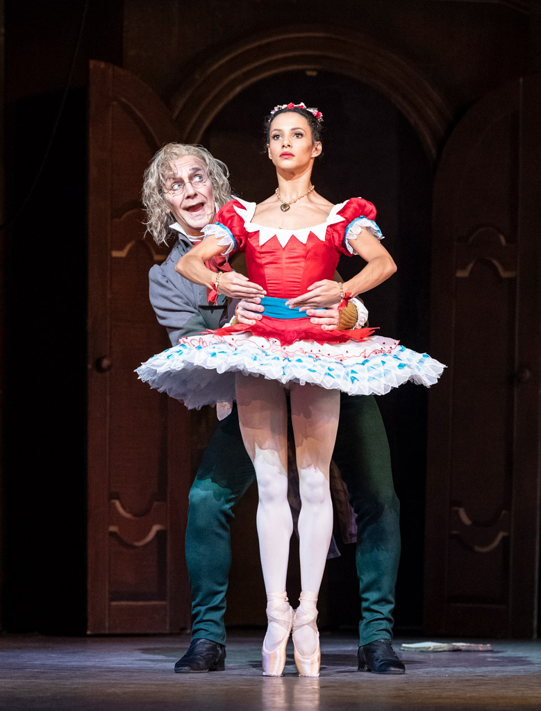 Francesca Hayward and Gary Avis in Coppélia.© Foteini Christofilopoulou, courtesy the Royal Opera House. (Click image for larger version)
