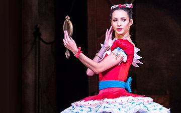 Francesca Hayward in Coppélia.© Foteini Christofilopoulou, courtesy the Royal Opera House. (Click image for larger version)