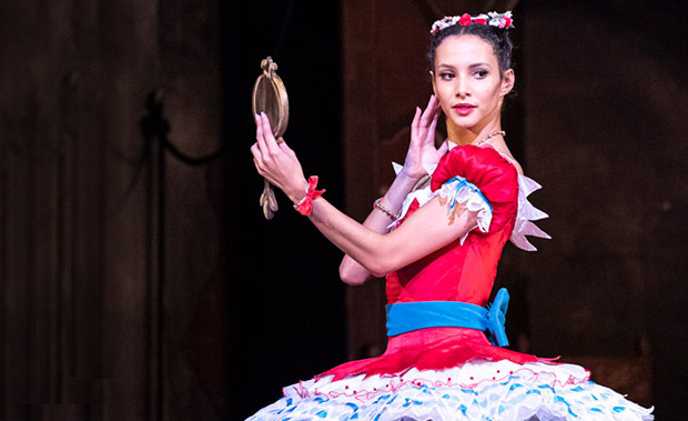 Francesca Hayward in <I>Coppélia</I>.<br />© Foteini Christofilopoulou, courtesy the Royal Opera House. (Click image for larger version)