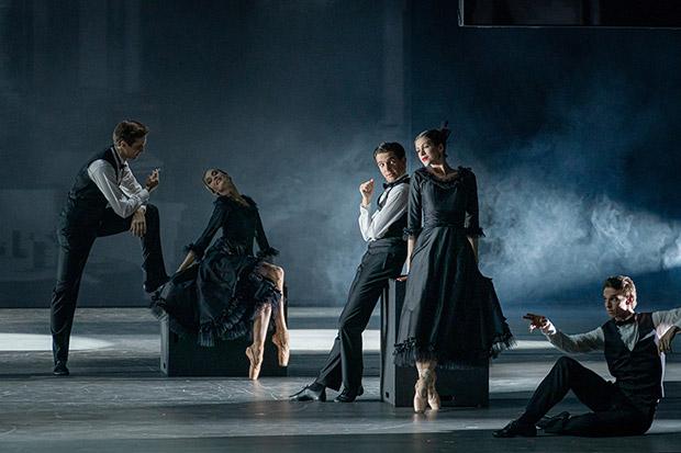 Svetlana Zakharova and dancers in <I>Gabrielle Chanel</I>.<br />© Jack Devant. (Click image for larger version)
