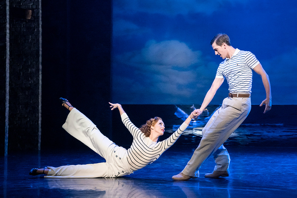 Dominic North and Ashley Shaw in The Red Shoes.© Johan Persson. (Click image for larger version)