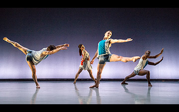 Pierre Tappon, Nancy Nerantzi, Liam Riddick and Nathan Goodman in Isthmus.© Tony Nandi. (Click image for larger version)