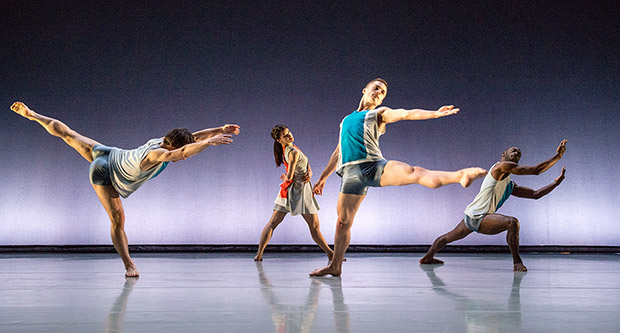 Pierre Tappon, Nancy Nerantzi, Liam Riddick and Nathan Goodman in <I>Isthmus</I>.<br />© Tony Nandi. (Click image for larger version)