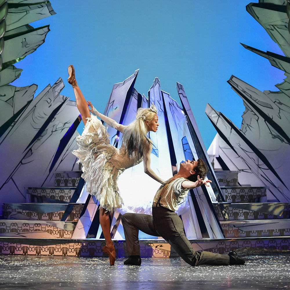 Katlyn Addison and Evan Loudon in <I>The Snow Queen</I>.<br />© Andy Ross. (Click image for larger version)