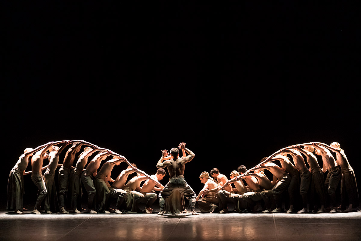English National Ballet in Khan's <I>Dust</I>.<br />© Bill Cooper. (Click image for larger version)