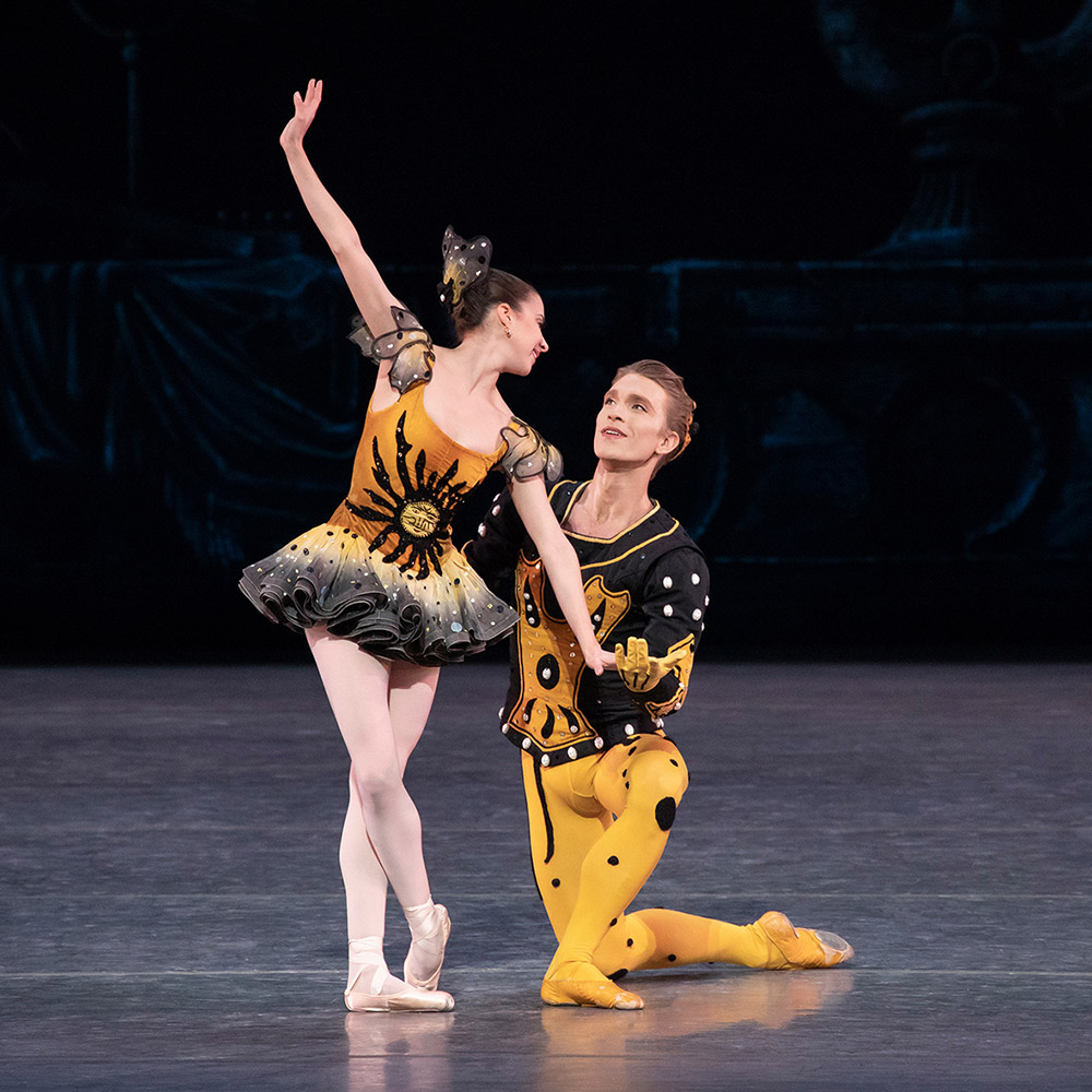 Erica Pereira and Harrison Ball in George Balanchine's Danses Concertantes.© Erin Baiano. (Click image for larger version)