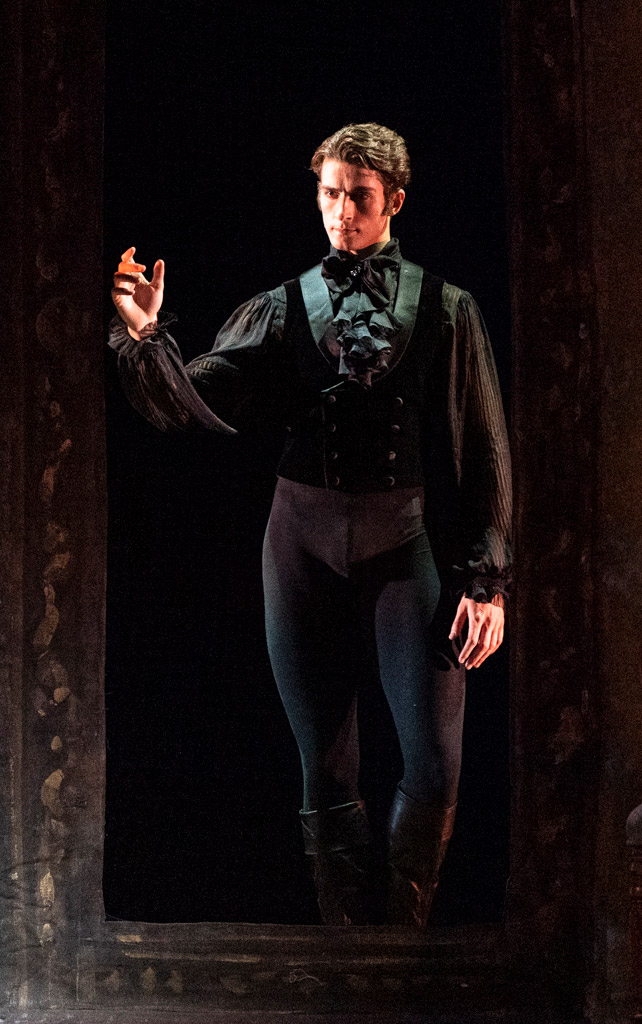 Reece Clarke in <I>Onegin</I>.<br />© Foteini Christofilopoulou, courtesy the Royal Opera House. (Click image for larger version)