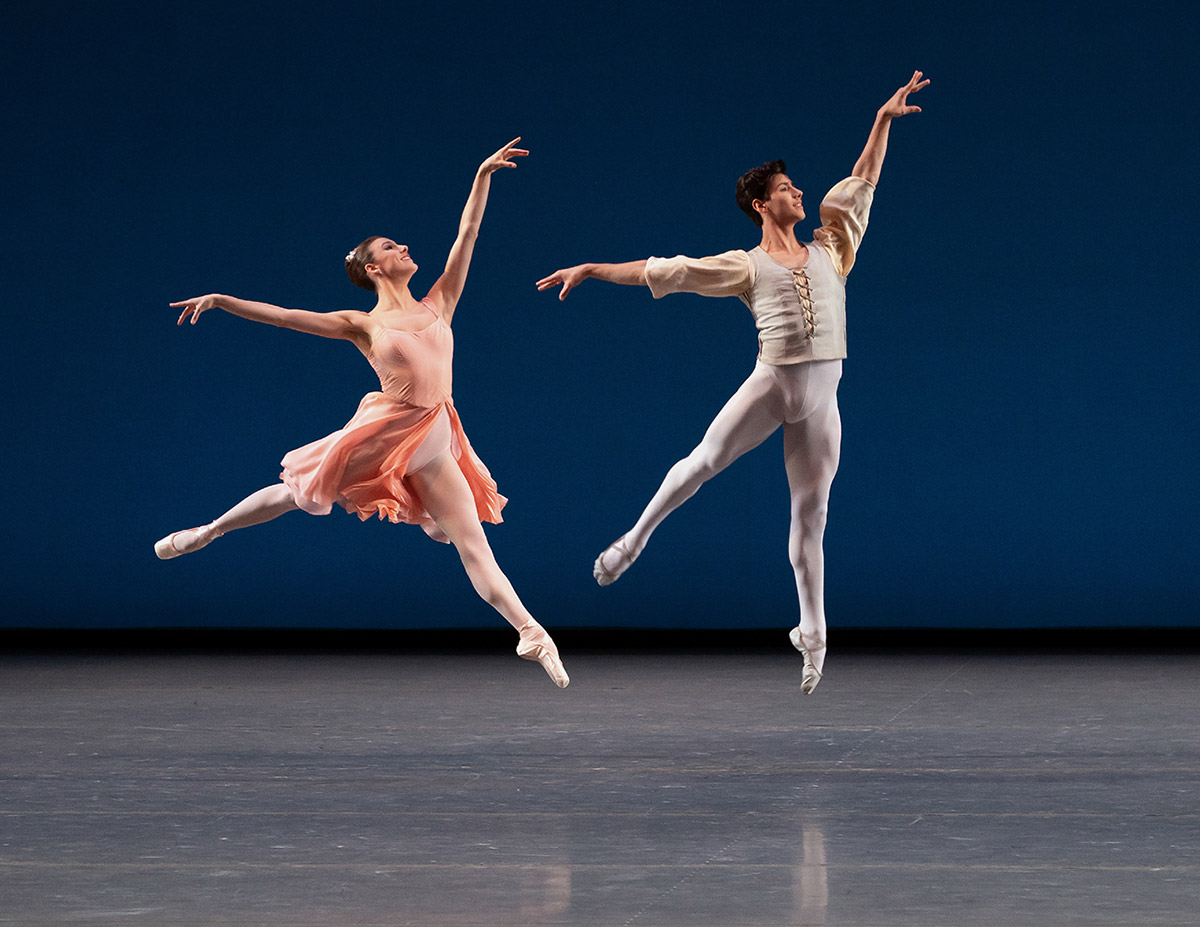 Tiler Peck And Roman Mejia in Balanchine's Allegro Brillante.© Erin Baiano. (Click image for larger version)