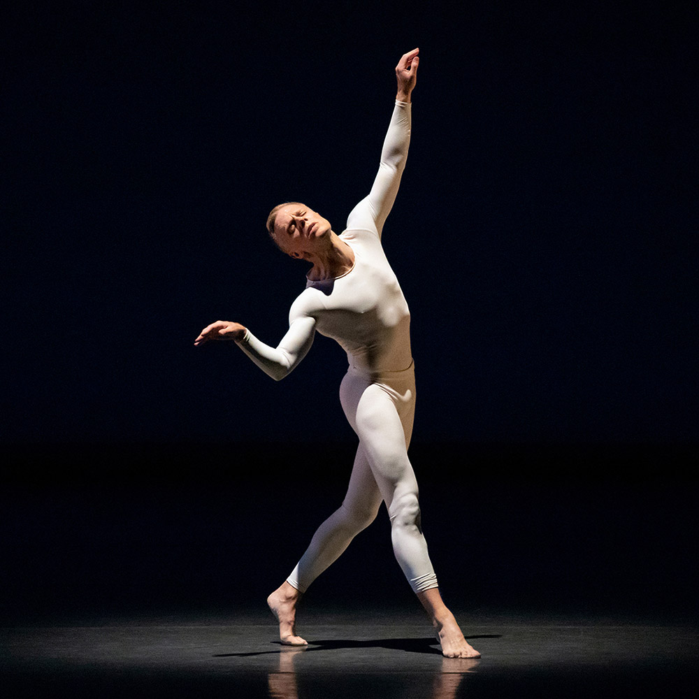 Michael Trusnovec in Balanchine's Episodes.© Erin Baiano. (Click image for larger version)