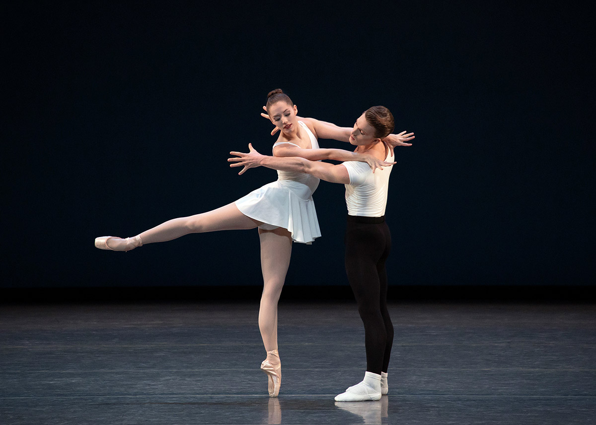 Unity Phelan and Harrison Ball in Balanchine's Haieff Divertimento.© Erin Baiano. (Click image for larger version)