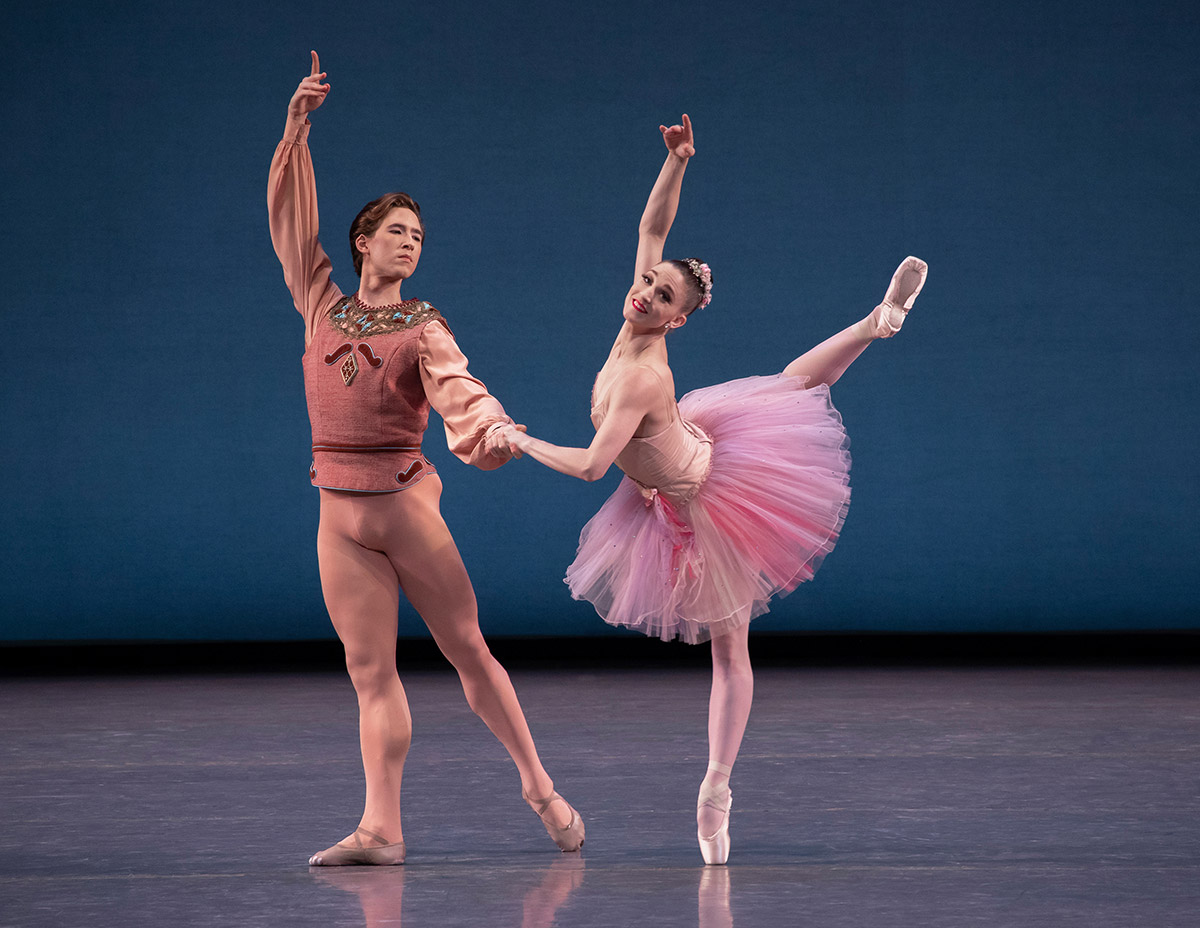 Joseph Gordon and Ashley Bouder in Balanchine's La Source.© Erin Baiano. (Click image for larger version)