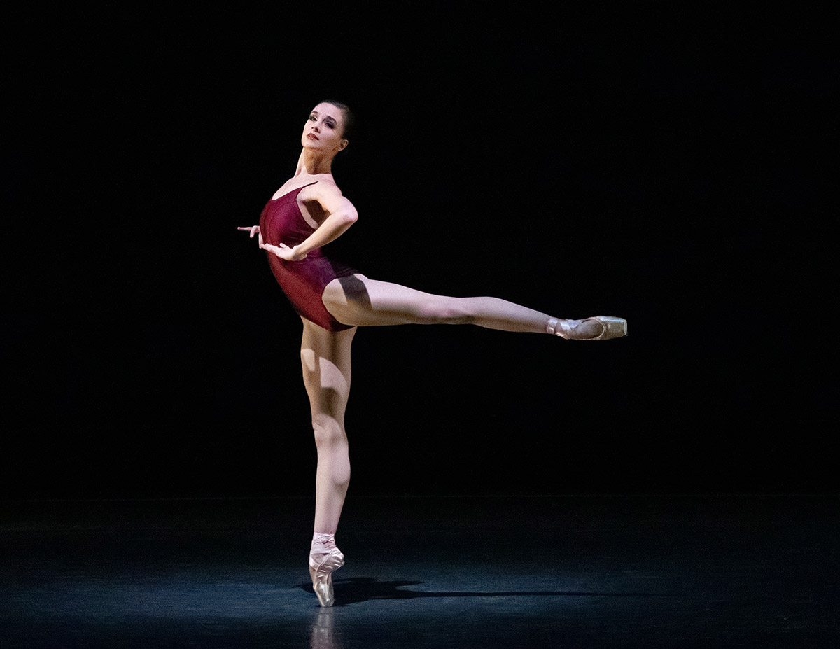 Lauren Lovette in Ratmansky's <I>Voices</I>.<br />© Erin Baiano. (Click image for larger version)
