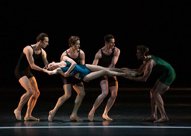 Megan Fairchild and NYCB in Ratmansky's Voices.© Erin Baiano. (Click image for larger version)