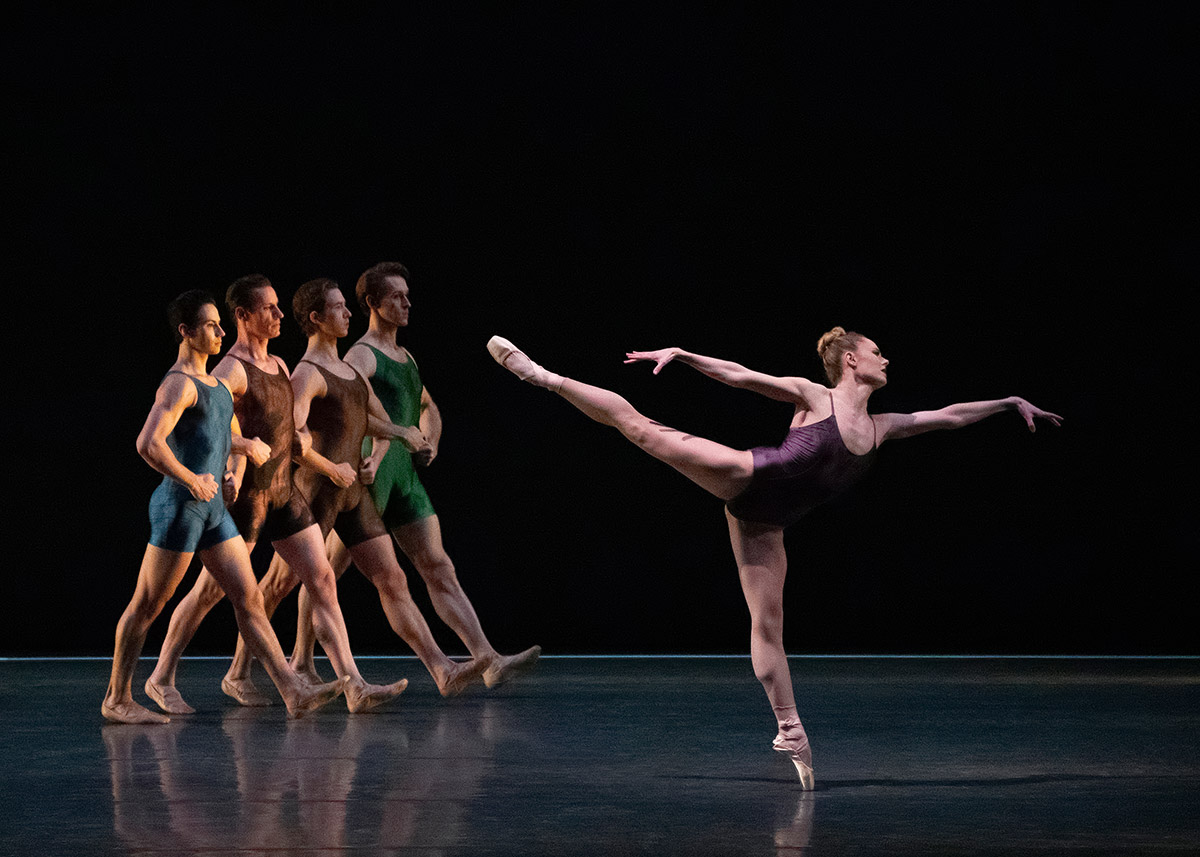Sara Mearns and NYCB in Ratmansky's <I>Voices</I>.<br />© Erin Baiano. (Click image for larger version)