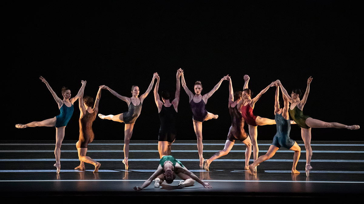 New York City Ballet in Ratmansky's <I>Voices</I>.<br />© Erin Baiano. (Click image for larger version)