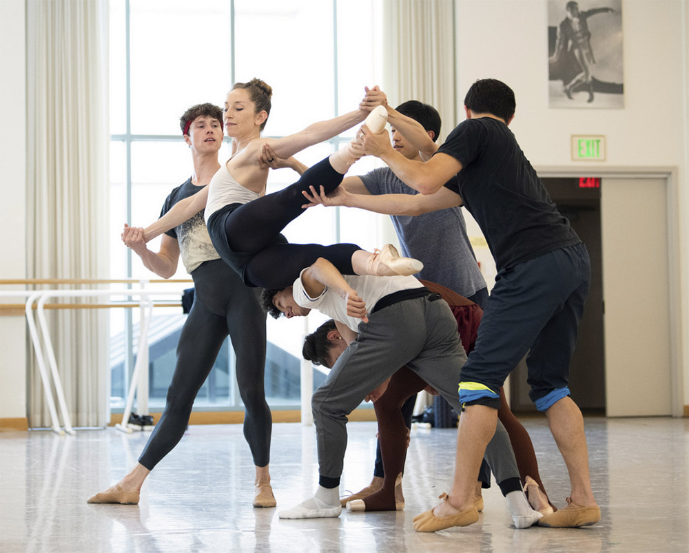 San Francisco Ballet rehearse McIntyre's The Big Hunger.© Erik Tomasson. (Click image for larger version)