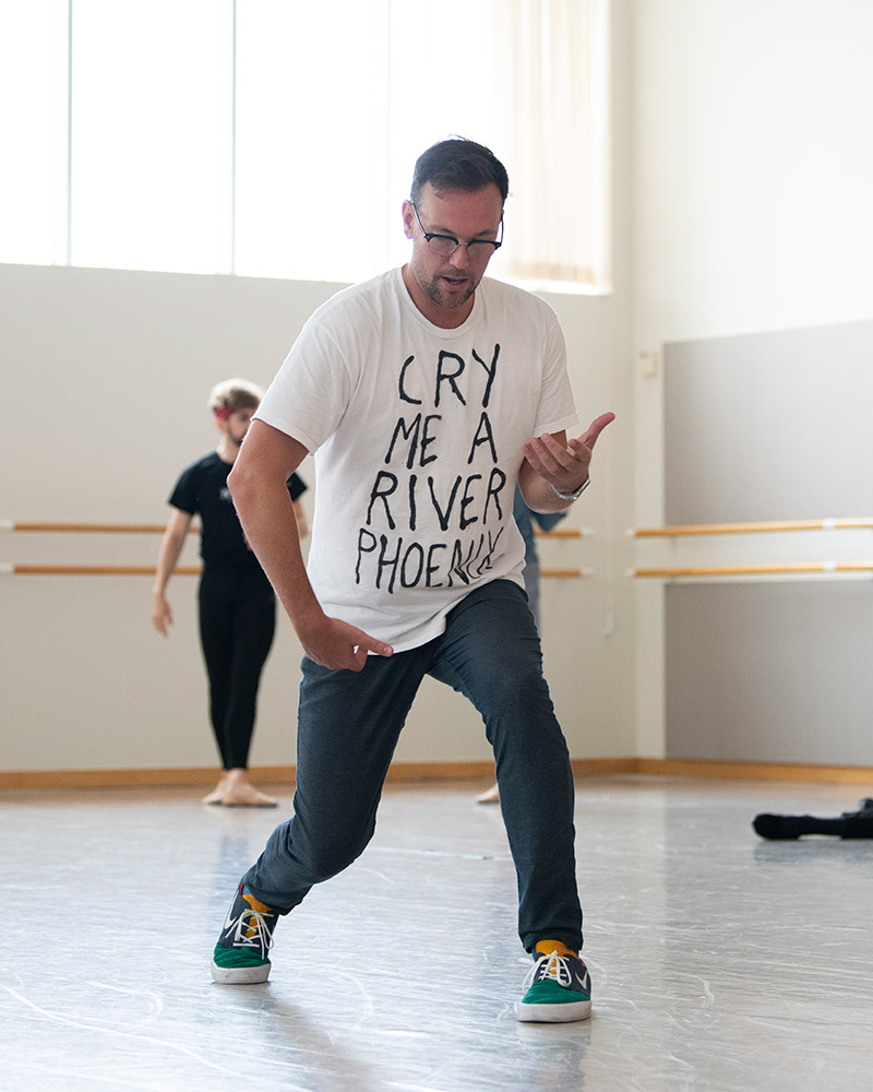 Trey McIntyre rehearsing McIntyre's The Big Hunger.© Erik Tomasson. (Click image for larger version)