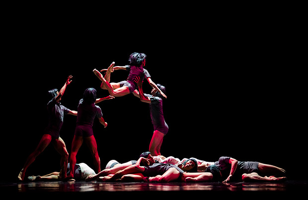 San Francisco Ballet in McIntyre's <I>The Big Hunger</I>.<br />© Erik Tomasson. (Click image for larger version)