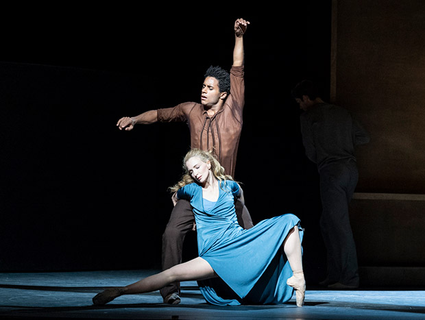 Lauren Cuthbertson and Marcelino Sambé in The Cellist.© Foteini Christofilopoulou, courtesy the Royal Opera House. (Click image for larger version)