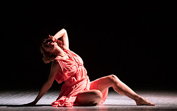 Viviana Durante in Five Brahms Waltzes in the Manner of Isadora Duncan.© Foteini Christofilopoulou. (Click image for larger version)
