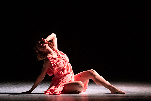 Viviana Durante in <I>Five Brahms Waltzes in the Manner of Isadora Duncan</I>.<br />© Foteini Christofilopoulou. (Click image for larger version)
