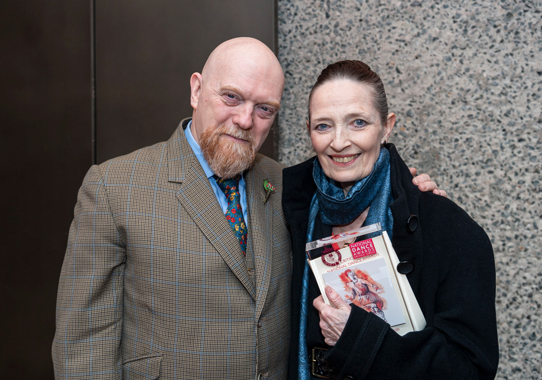 Graham Watts with Marion Tait - Winner of the De Valois Award for Outstanding Achievement.© Foteini Christofilopoulou. (Click image for larger version)