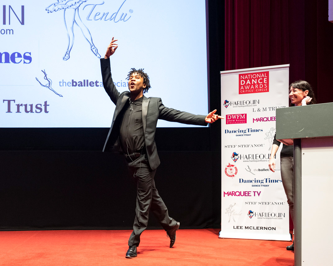 Miguel Altunaga and Mara Galeazzi hosts of National Dance Awards this year.© Foteini Christofilopoulou. (Click image for larger version)