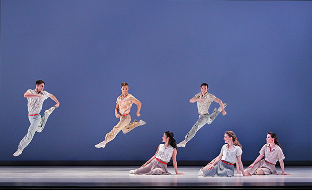 Paul Taylor Dance Company in <I>Company B</I>.<br />© Paul B. Goode. (Click image for larger version)
