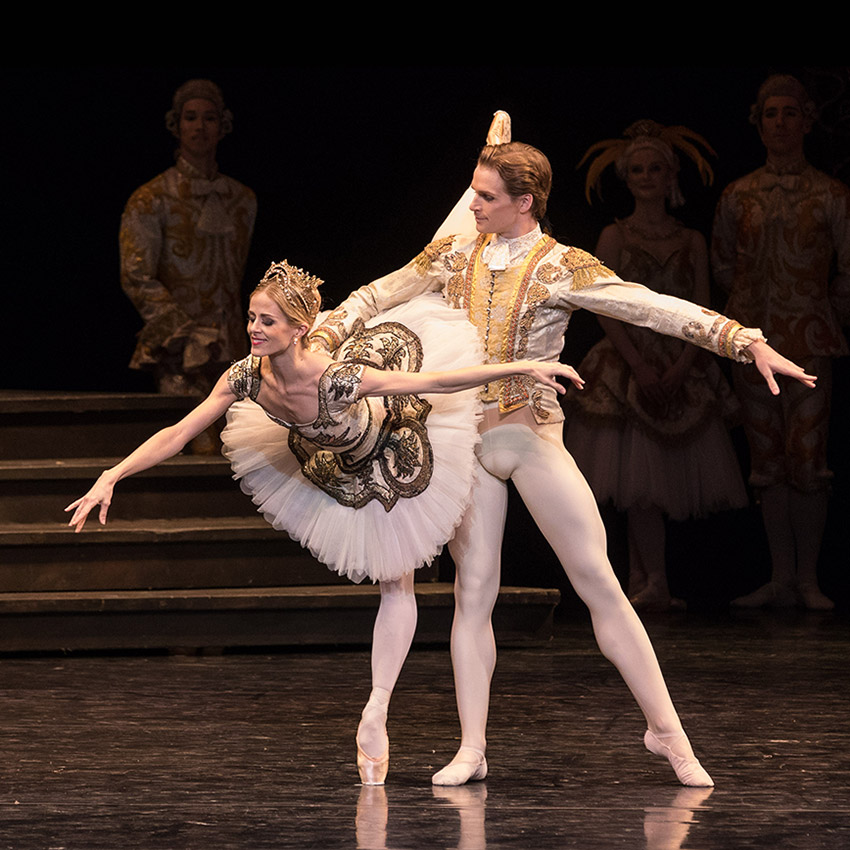 Heather Ogden and Harrison James in The Sleeping Beauty.© Teresa Wood. (Click image for larger version)
