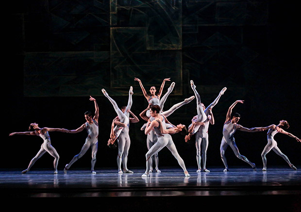 Joffrey Ballet in <I>Beyond the Shore</I>.<br />© Cheryl Mann. (Click image for larger version)