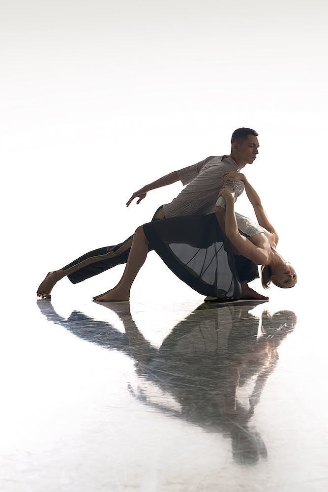 Joshua Harriette and Elly Braund in Shine On.© Chris Nash. (Click image for larger version)