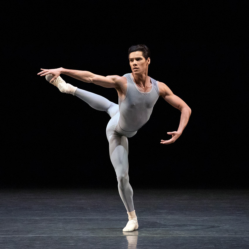 Jovani Furlan, here in Jerome Robbins' <I>Concertino</I>.<br />© Erin Baiano. (Click image for larger version)