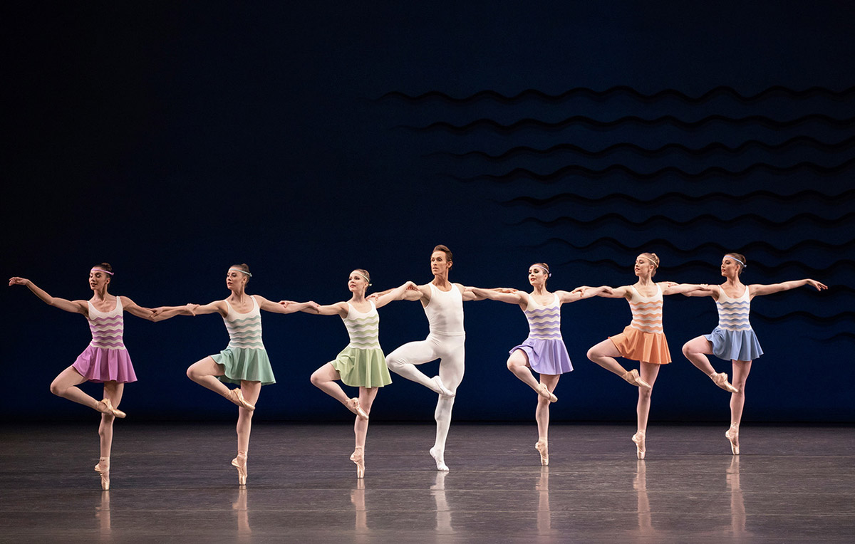 New York City Ballet in Robbins' <I>In G Major</I>.<br />© Erin Baiano. (Click image for larger version)