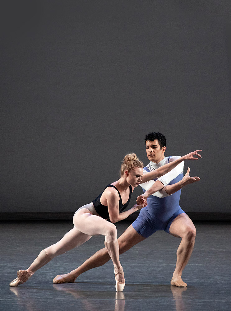 Gilbert Bolden III and Sara Mearns in Justin Peck's <I>Rotunda</I>.<br />© Erin Baiano. (Click image for larger version)