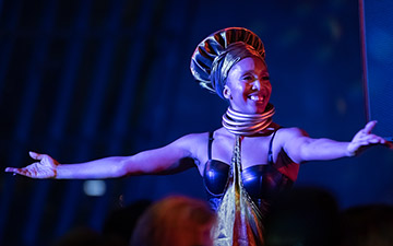 Francesca Harper at the Nona Hendryx and Disciples of Sun Ra in the Temple show.© Paula Lobo. (Click image for larger version)