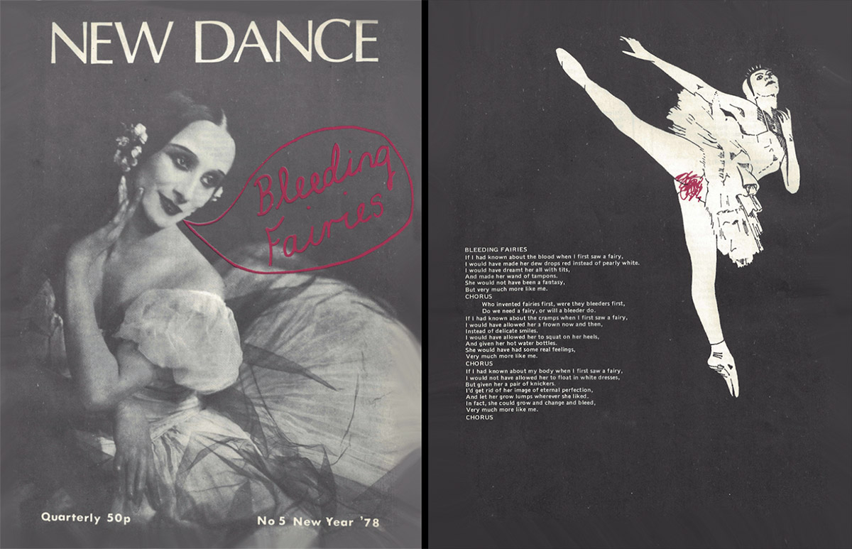 Front and back covers of New Dance magazine No.5, 1978.<br />© and courtesy Cell Project Space. (Click image for larger version)