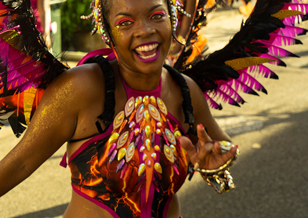 Capesterre-Belle-Eau, Guadeloupe Carnaval Parade, February 16, 2020.<br />© Don Burmeister. (Click image for larger version)