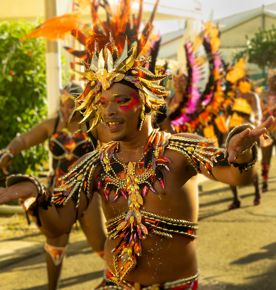 Capesterre-Belle-Eau, Guadeloupe Carnaval Parade, February 16, 2020.© Don Burmeister. (Click image for larger version)